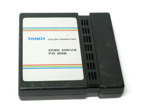 vintage tandy color computer disk drive cartridge fd 502 26 3133 as is d0754e75c94646beaec440ca5a79cdf7